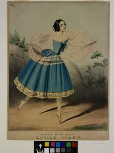 Lucile Grahn (1819-1907), the legendary Danish ballerina, in the nineteenth-century lithograph