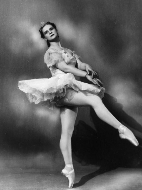Marina Semeyonova (1908-2010), a prima ballerina of the Bolshoi Ballet, a student of Agrippina Vaganova, and a Ballet Mistress of the Bolshoi Ballet, in The Sleeping Beauty choreographed by Marius Petipa in 1890.